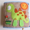 Dinoszauruszos okoskönyv- készségfejlesztő, kreatív gyakorlókönyv (Azonnal vihető!), Baba-mama-gyerek, Játék, Logikai játék, Készségfejlesztő játék, Mindenmás, Saját, egyedi tervezésű minta alapján készült játék, mely fejleszti a gyerekek kézügyességét, gondo..., Meska