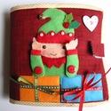 Karácsonyi okoskönyv- készségfejlesztő, kreatív gyakorlókönyv (Azonnal vihető!!), Baba-mama-gyerek, Játék, Logikai játék, Készségfejlesztő játék, Mindenmás, Saját, egyedi tervezésű minta alapján , aprólékos gonddal és odafigyeléssel készült textilkönyvecsk..., Meska