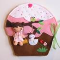 Mia cukorkás muffin házikója- játszókönyvecske, Baba-mama-gyerek, Játék, Készségfejlesztő játék, Plüssállat, rongyjáték, Ebben az édes, színes cukorkás kis  muffin házikóban lakik Mia, a bájos sütibaba és aprócsk..., Meska