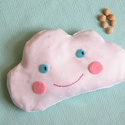 Felhőcske- meggymag párna, Gyerek & játék, Játék, Plüssállat, rongyjáték, Pamut anyagból készült, meggymaggal töltött, felhő alakú gyógypárnácska. A meggymag párna nagy előny..., Meska