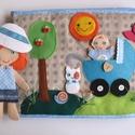 Anyu és én!  Interaktív-öltöztetős játszókönyvecske (Azonnal vihető!), Gyerek & játék, Játék, Készségfejlesztő játék, Baba, babaház, Saját, egyedi tervezésű minta alapján készült nagyméretű, interaktív játszókönyvecske, mely rendkívü..., Meska