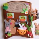 Bájos nyuszi család farönk házikóban- interaktív játszókönyv (Rendelhető!), Gyerek & játék, Játék, Készségfejlesztő játék, Baba, babaház, Ebben a kedves farönk házikóban éldegél egy bájos nyuszi család. Nyuszi Nati- mint minden rendes nyú..., Meska