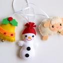 Karácsonyi függő trió- hintaló, bagoly, csillag, Otthon & lakás, Karácsony, Dekoráció, Ünnepi dekoráció, Karácsonyi dekoráció, Filcből készültek ezek az aprólékosan kidolgozott karácsonyfa díszek, azért, hogy még szebbé tegyék ..., Meska