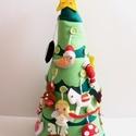 Díszíthető adventi karácsonyfa (24db dísszel+ csúcsdísz csillaggal) Azonnal vihető!, Dekoráció, Játék, Ünnepi dekoráció, Varrás, 60cm magas, díszíthető karácsonyfa Adventre, hogy még izgalmasabb legyen az ünnepi várakozás a gyer..., Meska