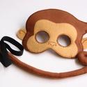 Mókás maki jelmez szett (Azonnal vihető!), Dekoráció, Ünnepi dekoráció, Farsangi jelmez, Egyedi tervezésű, filc anyagból készült, aprólékos és gondos munkával ez a majom álarc és..., Meska