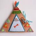 Cuki indián maci sátorban- játszókönyvecske , Baba-mama-gyerek, Játék, Készségfejlesztő játék, Plüssállat, rongyjáték, Mindenmás, Varrás, Ebben az izgalmas sátor házikóban lakik egy kis indián maci, aki imád dobolni, halászni, íjászkodni..., Meska