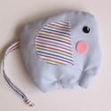 Elefáni- meggymag párna, Gyerek & játék, Játék, Plüssállat, rongyjáték, Pamut anyagból készült, meggymaggal töltött, elefánt alakú gyógypárnácska. A meggymag párna nagy elő..., Meska