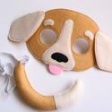 Tarka kutya farsangi jelmez szett-AZONNAL VIHETŐ!!, Otthon & lakás, Gyerek & játék, Dekoráció, Ünnepi dekoráció, Farsangi jelmez, Játék, Egyedi tervezésű, filc anyagból készült, aprólékos és gondos munkával ez a tarka kutya álarc és a ho..., Meska