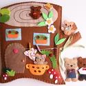 Cuki maci család farönk házikóban- interaktív játszókönyv (Azonnal vihető!), Baba-mama-gyerek, Játék, Készségfejlesztő játék, Baba, babaház, Mindenmás, Ebben a csinos kis farönk házikóban éldegél egy cuki maci család. Mara maci- mint minden rendes mac..., Meska