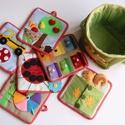 Matató textilkosár készségfejlesztő, kreatív gyakorló lapokkal (RENDELHETŐ), Baba-mama-gyerek, Játék, Logikai játék, Készségfejlesztő játék, Mindenmás, Saját, egyedi tervezésű minta alapján készült játék, mely fejleszti a gyerekek kézügyességét, gondo..., Meska