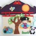 Pagoda játszókönyv gésa babával és pici pandával, Gyerek & játék, Játék, Baba, babaház, Készségfejlesztő játék, Csupamosoly gésalányka icipici panda macival lakik ebben a pompás pagodában.  Az aprócska maci és ki..., Meska