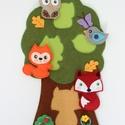 Erdei állatkás puzzle, Gyerek & játék, Játék, Készségfejlesztő játék, Társasjáték, Ha hosszabb autóútra indultok, bátran ajánlom ezt a cuki erdei állatkás puzzle-t! S ha már meguntáto..., Meska