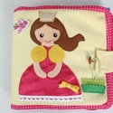 Hercegnős okoskönyv- kreatív textilkönyv (azonnal vihető!) , Gyerek & játék, Játék, Készségfejlesztő játék, Saját, egyedi tervezésű minta alapján, különös odafigyeléssel és gonddal készült textil könyvecske a..., Meska