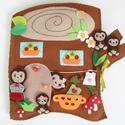 Cuki süni család farönk házikóban- interaktív játszókönyv (AZONNAL VIHETŐ!!), Gyerek & játék, Játék, Készségfejlesztő játék, Baba, babaház, Ebben a kedves farönk házikóban éldegél egy vidám süni család. Saci süni- mint minden rendes süni an..., Meska