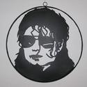 Michael., Otthon & lakás, Dekoráció, Dísz, Kép, Lakberendezés, Michael Jakson a pop koronázatlan királyának fémből készült intarzia jellegű képmása. Teljesen egyed..., Meska
