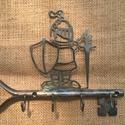 KULCSTARTÓ kulcs!, Otthon & lakás, Lakberendezés, Rendkívül látványos, dekoratív kovácsoltvas kulcstartó. Hagyományos tűzi kovácsolással, aprólékos ké..., Meska