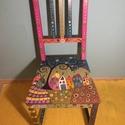 Meseszék, Bútor, Baba-mama-gyerek, Szék, fotel, Gyerekszoba, Festészet, Famegmunkálás, Új, vagy használt székre (és egyéb bútorokra is) vállalom egyedi motívumok festését.  Gyerekszobába..., Meska