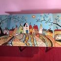 Singer Mama meséje, Bútor, Dekoráció, Otthon, lakberendezés, Asztal, Festett tárgyak, Famegmunkálás, Singer varrógép funkcióváltásával készült asztalka. A varrógép szerkezetét kiemeltem, az asztalkát ..., Meska
