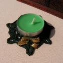 Horgolt mécsestartó (zöld), Az őszi, téli ünnepekre gondolva - és hogy fel...