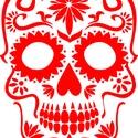 Vasalható sugar skull, Dekoráció, Ruha, divat, cipő, Fotó, grafika, rajz, illusztráció, Mindenmás, Vasalhatod pólóra, pulcsira, táskára, bármilyen vasalható textíliára.  A vasalható minta anyaga vid..., Meska
