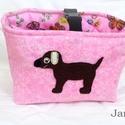 Rózsaszín, kutyás - futóbicikli/biciklis táska gyerekeknek, Ez a biciklis táska martaa számára készült. K...