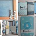 """"""" Anya kedvence..."""" - interaktív scrapbook babanapló- és fotóalbum , Baba-mama-gyerek, Naptár, képeslap, album, Fotóalbum, Jegyzetfüzet, napló, Papírművészet, Azoknak az anyuciknak készítettem ezt az interaktív scrapbook babanaplót és fotóalbumot, akik szere..., Meska"""