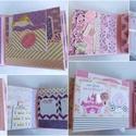 """' A mi kis hercegnőnk"""" - interaktív scrapbook album nem babáknak, hanem kislányoknak, Naptár, képeslap, album, Fotóalbum, Jegyzetfüzet, napló, Egy kedves vásárlóm kislányának a születésnapjára készítettem ezt az interaktív scrapbook fotóalbumo..., Meska"""