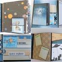 """"""" Kis tudósunk"""" - interaktív scrapbook fotóalbum , Naptár, képeslap, album, Fotóalbum, Jegyzetfüzet, napló, Papírművészet, Eky kedves vásárlóm azt kérte tőlem, hogy készítsek a kisfiának egy fotóalbumot a 10. születésnapjá..., Meska"""