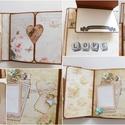 """"""" A mi szerelmünk..."""" - egyedi, kézműves vintage esküvői scrapbook album, Esküvő, Naptár, képeslap, album, Nászajándék, Fotóalbum, Nagyon szép, egyedi esküvői fotóalbumot készítettem, melyben megőrizheted életed egyik legfontosabb ..., Meska"""