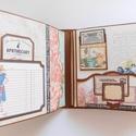 """"""" Vintage otthon"""" - vintage scrapbook album és napló, Naptár, képeslap, album, Fotóalbum, Jegyzetfüzet, napló, Nagyon egyedi, kézműves vintage stílusú albumot és naplót készítettem, melybe leírhatod minden gondo..., Meska"""