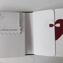 """"""" Igen!"""" - fehér és piros esküvői scrapbook fotóalbum, Esküvő, Naptár, képeslap, album, Nászajándék, Fotóalbum, Papírművészet, Egy kedves vásárlóm arra kért, hogy készítsek neki egy interaktív esküvői scrapbook fotóalbumot a d..., Meska"""