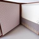 Egyedi, kézműves esküvői fotóalbum, Esküvő, Naptár, képeslap, album, Nászajándék, Fotóalbum, Papírművészet, Teljes mértékben kézzel készült, egyedi hagyományos, nem interaktív esküvői mini fotóalbum.   Az al..., Meska