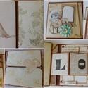 Egyedi, kézműves vintage esküvői album oldalak  á la carte, Esküvő, Naptár, képeslap, album, Nászajándék, Fotóalbum, Nagyon sok vásárlóm számára készítettem már úgy albumot, hogy a korábbi albumaim oldalaiból  válogat..., Meska