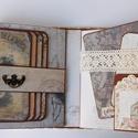Vintage memories - egyedi, kézműves scrapbook album, Naptár, képeslap, album, Fotóalbum, Jegyzetfüzet, napló, Gyönyörű fotóalbumot készítettem vintage stílusban az emlékeiteknek.   Az album teljes mértékben kéz..., Meska