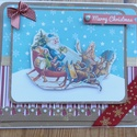 """"""" Télapó gyere már! """" - egyedi, kézműves karácsonyi képeslap, Naptár, képeslap, album, Ajándékkísérő, Képeslap, levélpapír, Egyedi, különleges, kézműves képeslapot  készítettem karácsonyra, melyben az ünnephez méltóan adhato..., Meska"""