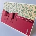 """"""" Bordóban """" - egyedi, kézműves karácsonyi képeslap és pénzátadó, Naptár, képeslap, album, Ajándékkísérő, Képeslap, levélpapír, Egyedi, különleges, kézműves képeslapot  és pénzátadót készítettem karácsonyra, melyben az ünnephez ..., Meska"""