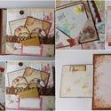 Vintage memories 2. - egyedi, kézműves scrapbook album, Naptár, képeslap, album, Fotóalbum, Jegyzetfüzet, napló, Papírművészet, Gyönyörű fotóalbumot készítettem vintage stílusban az emlékeiteknek.   Az album teljes mértékben ké..., Meska