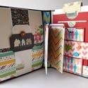 We are family - mini scrapbook fotó folio 2, Naptár, képeslap, album, Otthon, lakberendezés, Fotóalbum, Jegyzetfüzet, napló, Bár csak pár oldala van, mégis minimum 36 darab fénykép fér el ebben a mini scrapbook fotó folióban...., Meska