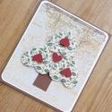 """"""" Szívkarácsonyfa"""" - egyedi, kézműves karácsonyi képeslap, Egyedi, különleges, kézműves képeslapot  kés..."""