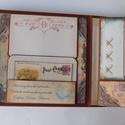 Utazási emlékeim - egyedi, kézműves vintage utazási fotóalbum- és napló, Naptár, képeslap, album, Fotóalbum, Jegyzetfüzet, napló, Gyönyörű, egyedi vintage utazási napló- és fotóalbum, melyben megörökítheted kedvenc nyaralásod, uta..., Meska
