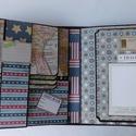 USA - egyedi, kézműves scrapbook fotóalbum- és útinapló, Naptár, képeslap, album, Fotóalbum, Jegyzetfüzet, napló, Papírművészet, Őrizd meg utazási kalandod legszebb pillanatait, emlékeidet ebben a nagyon különleges, egyedi, telj..., Meska