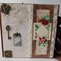 Time to remember... - egyedi, kézműves scrapbook vintage fotóalbum, Naptár, képeslap, album, Fotóalbum, Jegyzetfüzet, napló, Az emlékezés boldogsággal tölti el a lelkünket, visszavisz bennünket korábbi éveink legszebb, legeml..., Meska