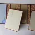 Egyedi, kézműves notesztartó két kivehető/ cserélhető notesszel, Naptár, képeslap, album, Jegyzetfüzet, napló, Naptár, Papírművészet, Praktikus, nagyon egyedi, kézműves notesztartót készítettem A5 méretben, belsejében pedig két kiveh..., Meska