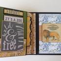 Egyedi, kézműves szafari babanapló- és fotóalbum, Baba-mama-gyerek, Naptár, képeslap, album, Fotóalbum, Jegyzetfüzet, napló, Ezt a babanaplót azoknak az anyuciknak készítettem, akik szeretnék írásban is megőrizni babájukkal k..., Meska
