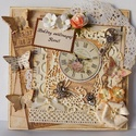 Egyedi, kézműves vintage születésnapi képeslap nőknek, Naptár, képeslap, album, Ajándékkísérő, Képeslap, levélpapír, Nagyon egyedi képeslapot készítettem, melyben az ünnephez métóan nyújthatod át születésnapi jókíváns..., Meska