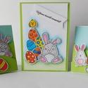 Egyedi, kézműves húsvéti képeslap csomag, Baba-mama-gyerek, Naptár, képeslap, album, Képeslap, levélpapír, Nagyon aranyos, egyedi, kézműves húsvéti képeslapot készítettem, melyben elküldheted jókívánságaidat..., Meska