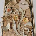Egyedi, kézműves  scrapbook vintage képeslap, Naptár, képeslap, album, Esküvő, Otthon, lakberendezés, Képeslap, levélpapír, Papírművészet, Gyönyörű, egyedi, kézműves képeslapot készítettem a közelgő anyák napjára.  A képeslap scrapbook te..., Meska