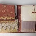 """""""A megismerkedéstől a nászútig..."""" - barna esküvői scrapbook fotóalbum, Esküvő, Naptár, képeslap, album, Nászajándék, Fotóalbum, Modern, egyedi, kézműves esküvői scrapbook album, melyben megőrizheted a """"Nagy nap"""" emlékeit.   Az a..., Meska"""