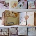 """""""Rokonlelkek""""- egyedi, kézműves esküvői scrapbook album, Esküvő, Naptár, képeslap, album, Nászajándék, Fotóalbum, Gyönyörű, egyedi, kézműves esküvői scrapbook albumot készítek, melyben megőrízheted életed egyik leg..., Meska"""
