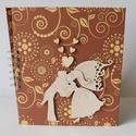 Egyedi, kézműves barna esküvői fotóalbum, Esküvő, Naptár, képeslap, album, Nászajándék, Fotóalbum, Kész termék, azonnal vihető!!!!  Gyönyörű, elegáns barna esküvői fotóalbumot készítettem. Az album b..., Meska